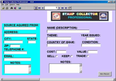 Stamp Collector Professional 9.0 screenshot