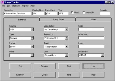 Stamp Tracker 2.2 screenshot