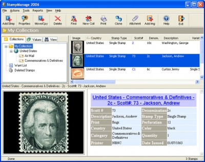 StampManage 2006 screenshot