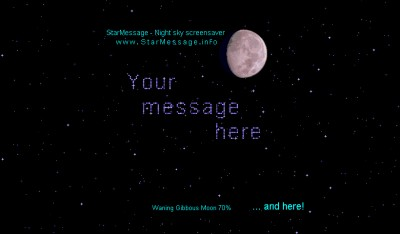 StarMessage - Moon Phases screensaver 4.17 screenshot