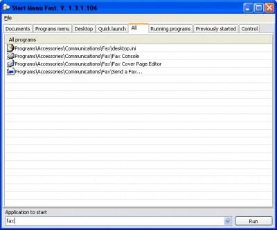 Start Menu Fast 1.3.3 screenshot