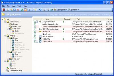 StartUp Organizer 2.9 SR2 screenshot