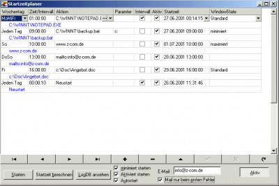 Startzeitplaner 1.03 screenshot