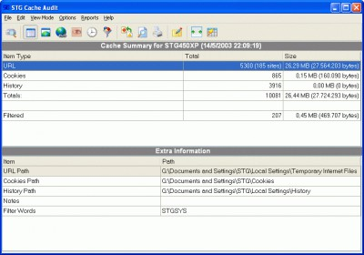 STG Cache Audit 1.0 screenshot
