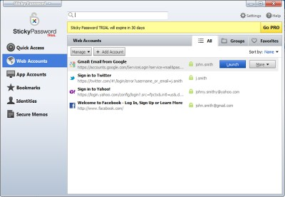 Sticky Password Free 8.2.0.206 screenshot