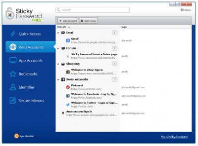Sticky Password 6.0 screenshot