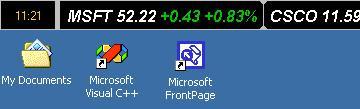 Stock Ticker Application Bar 2.40.4 screenshot