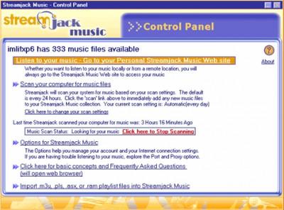 Streamjack Music 1.0 screenshot