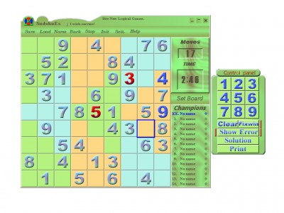Sudoku Extend 5.00 screenshot