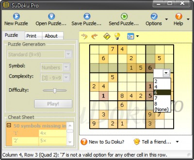 SuDoku Pro - Espanol 2.7 screenshot