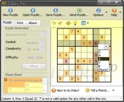 SuDoku Pro 2.7 screenshot