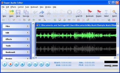 Super Audio Editor 8.5.5 screenshot