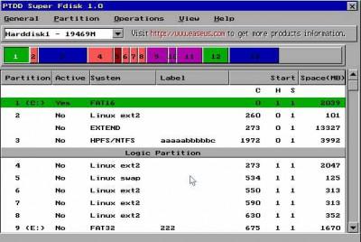 Super Fdisk 1.0 screenshot