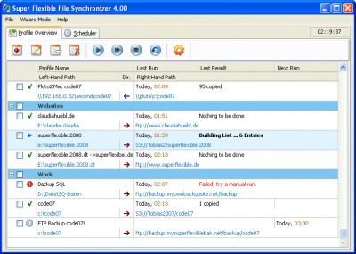 Super Flexible File Synchronizer 2.60 screenshot