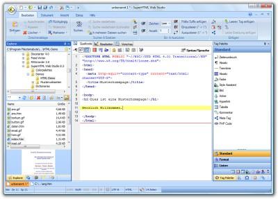 SuperHTML Web Studio 8.5.6 screenshot