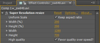 SuperResolution plugin 2.2 screenshot