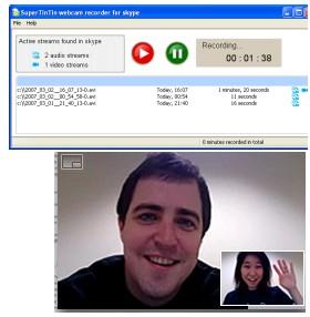 Supertintin Skype Video Call Recorder 1.2.0.8 screenshot