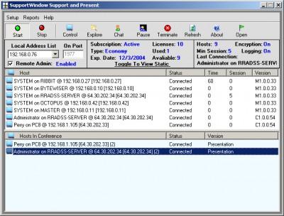 SupportWindow Console 1.0 screenshot
