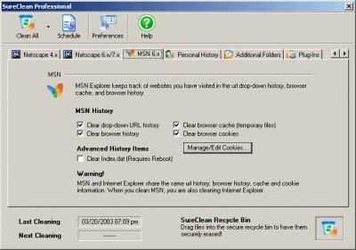 SureClean 2.0.1002 screenshot