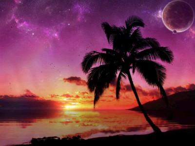 Surreal Sunset Living Desktop 1.0.0 screenshot