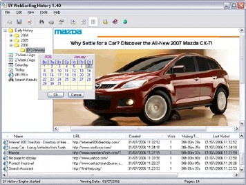 SV WebSurfing History 1.6 screenshot