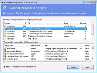 Svchost Process Analyzer 1.3 screenshot