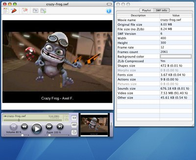SWF & FLV Player for Mac 6.12 screenshot