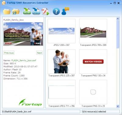 SWF Resources Extractor 2.5 screenshot