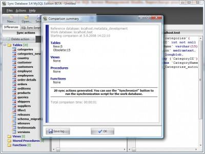 Sync Database MySQL Edition 3.3 screenshot