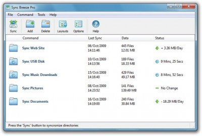 SyncBreeze Pro 10.5.14 screenshot