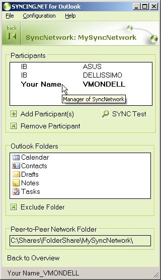 SYNCING.NET for Outlook 1.25 screenshot