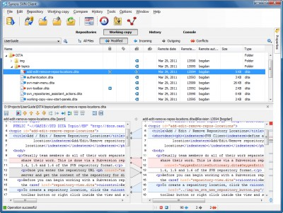 Syncro SVN Client 9.1 screenshot