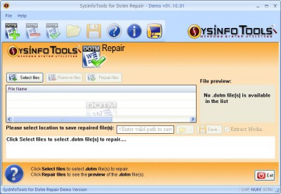 SysInfoTools Dotm Repair 1.01 screenshot