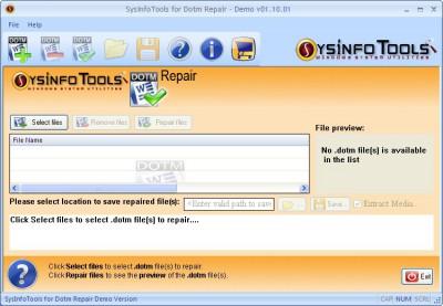 SysInfoTools Dotm Repair 1.01 screenshot