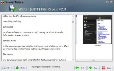 SysInfoTools OpenOffice Writer Recovery 2.0 screenshot