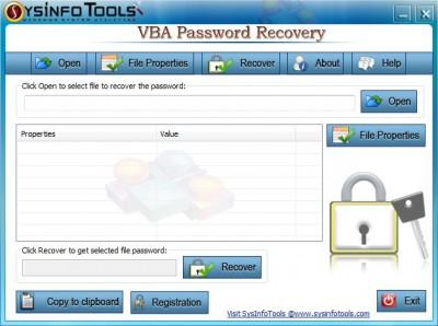 SysInfoTools VBA Password Recovery 4.0 screenshot