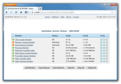 SysPulsar Server 1.9.12 screenshot
