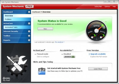 System Mechanic Free 18.7 screenshot