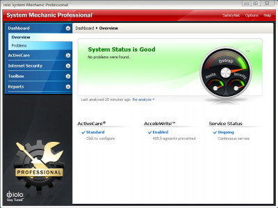 System Mechanic Professional 19 screenshot