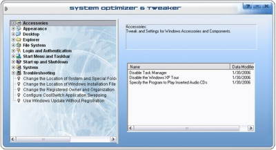 System Optimizer & Tweaker 1.2.0.2 screenshot