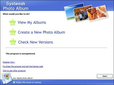 Systweak Photo Album 1.0.0.1 screenshot