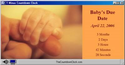 T-Minus Baby's Due Date Countdown 6.0 screenshot