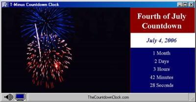T-Minus Fourth of July Countdown 6.0 screenshot