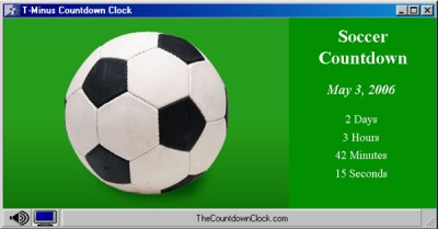 T-Minus Soccer Countdown 6.0 screenshot