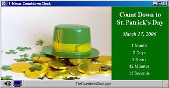 T-Minus St. Patrick's Day Countdown 6.0 screenshot
