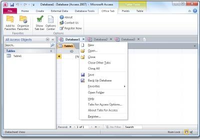 Tabs for Access x64 8.00 screenshot
