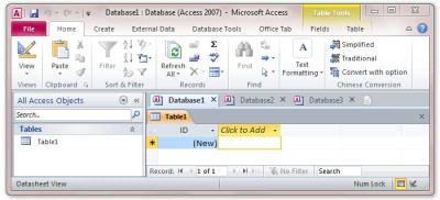Tabs for Access 8.50 screenshot