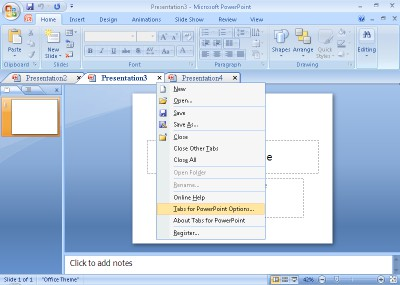 Tabs for PowerPoint 64bit 8.50 screenshot