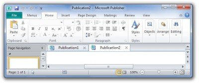 Tabs for Publisher 8.50 screenshot
