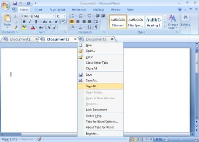 Tabs for Word 64 bit 8.50 screenshot